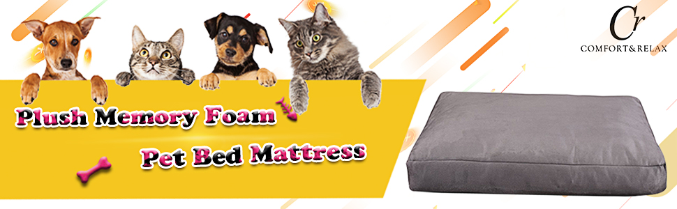 comfort & relax pet bed, pet mattress, dog bed, dog mattress, pet sofa, waterproof dog bed