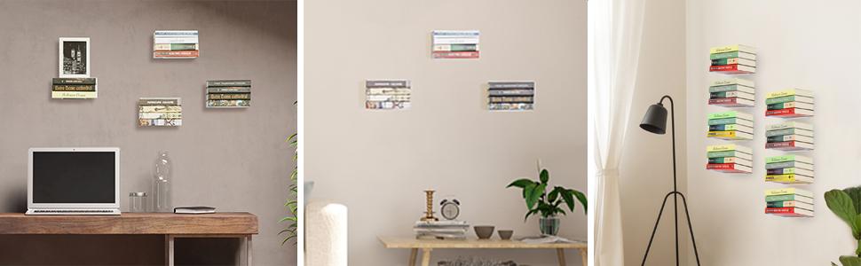 floating bookshelf white