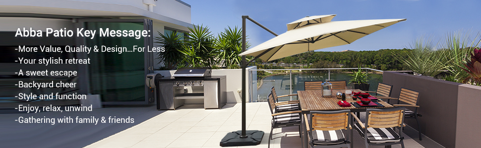 patio umbrella, outdoor umbrella, offset umbrella, cantilever umbrella