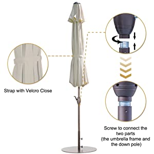 vented outdoor umbrella