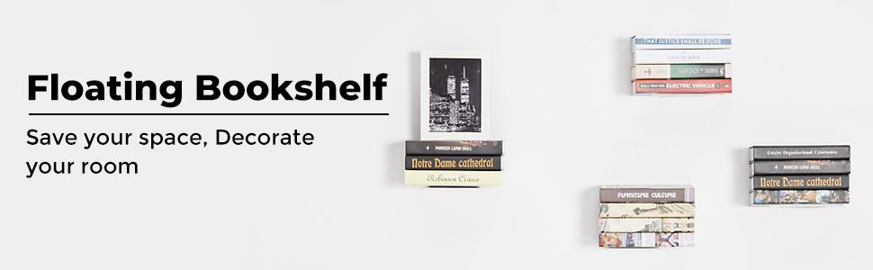invisible floating bookshelf, hanging bookshelf, book storage