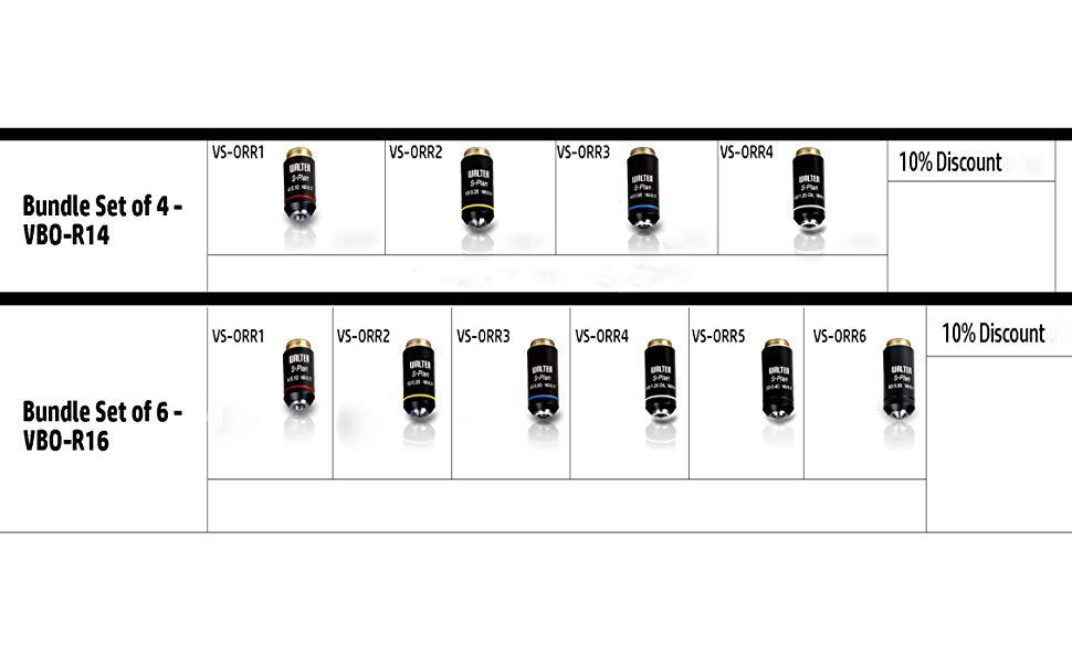 Vision Scientific VS-0RR6 Semi-Plan DIN Achromatic Series 60X Magnification