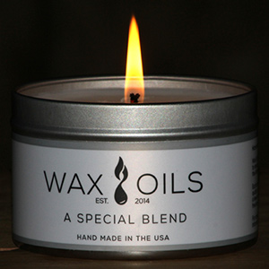 a special blend candle with large flame