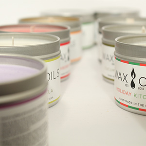 image showing 10 scented candles from wax and oils