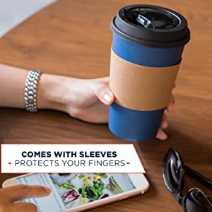 coffee cups with sleeves