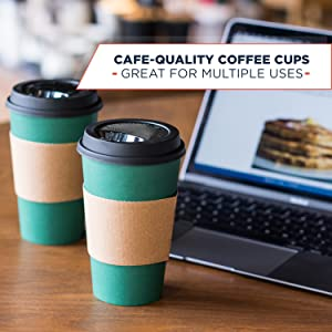 coffee cups with lids 16oz