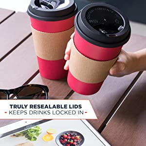 coffee cups with lids leak proof