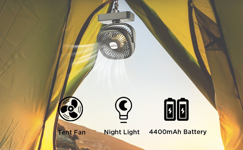 outxe camping fan for tent light