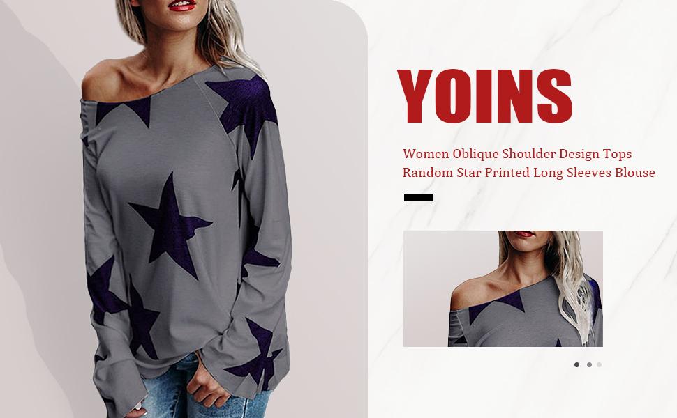 Yuson Girl Manga Larga Mujer con Estampado de Flores Camiseta/Manga/Larga/Camisa Casual Camiseta Casual Holgada con Cuello en V Camisa de Algod/ón Elegante Mujer
