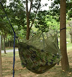 Fortric mosquito net outdoor double camping hammock 118 x 78 lightweight nylon - Keep mites away backyard hiking ...