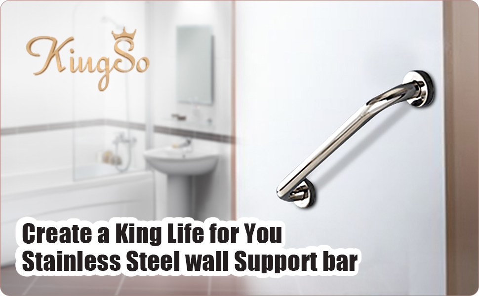 Amazon.com: King do way - Barra de mano para baño, níquel ...