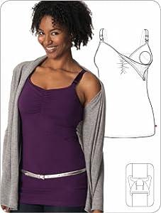 5237c17502 Glamourmom Nursing Bra Full Bust Long Top at Amazon Women s Clothing ...