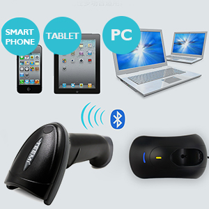 the scanner can be paired with bluetooth 4.0 smart phone tablet PC Mac OS