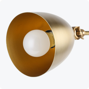CO-Z Gold Desk Lamps with Marble Base /& Adjustable Metal Shade with E12 Bulb 18.3 Inches Height for Desk Table Reading.