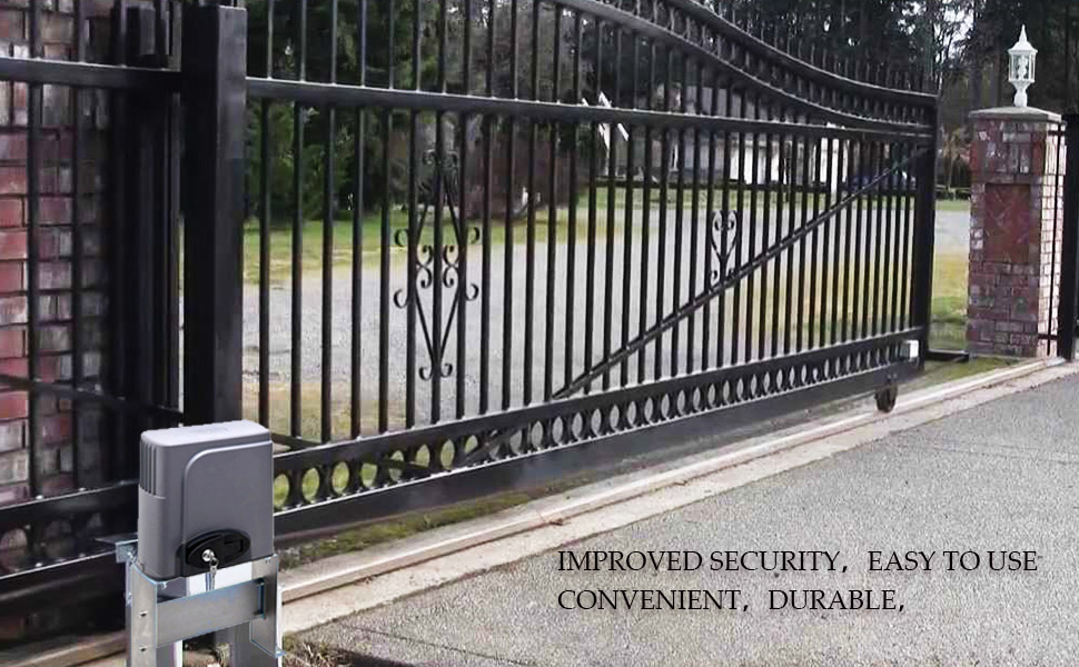 Co z automatic sliding gate opener hardware for Sliding driveway gate hardware