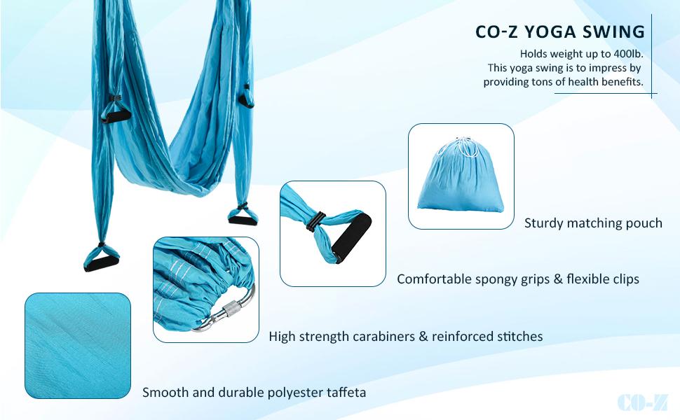 Amazon.com: CO-Z - Juego de hamaca de yoga con soporte para ...