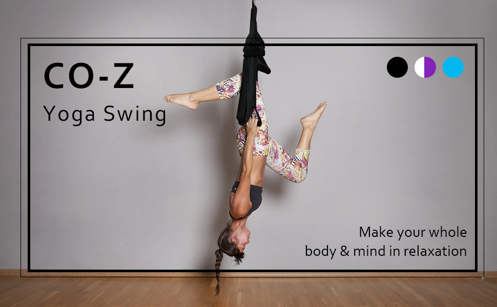 Amazon co z aerial yoga swing sling trapeze inversion co z aerial yoga swing fandeluxe Choice Image