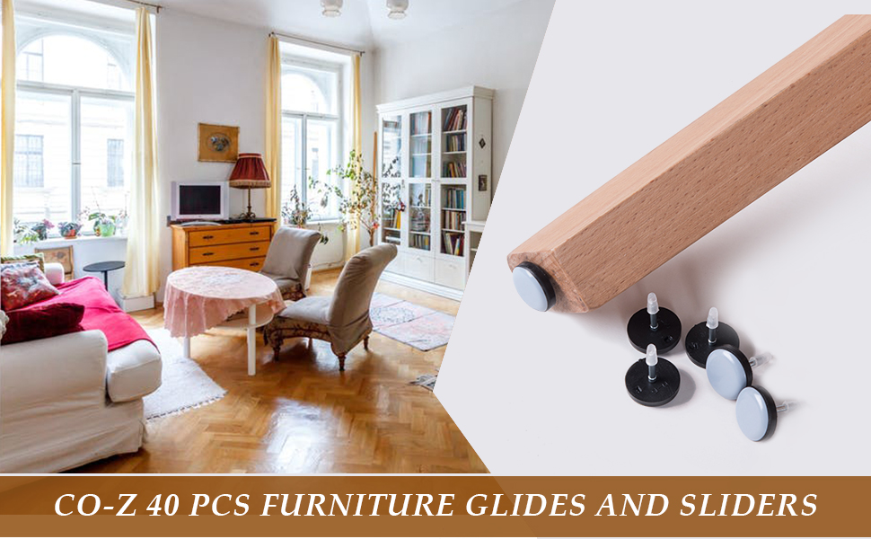 To Help Protect Your Floors From Dents And Scratches, Our 40PCs Nail On Furniture  Glides Are The Smartest Option For You. These Furniture Glides Are ...