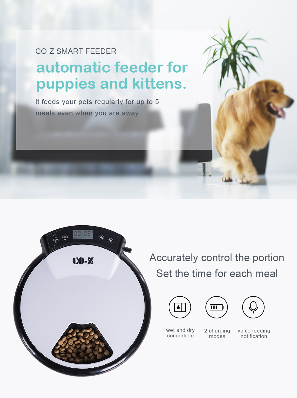timer dispenser dogs mirage automatic product smart shop and pet acevog with food voice small for programmable recorder rakuten feeder