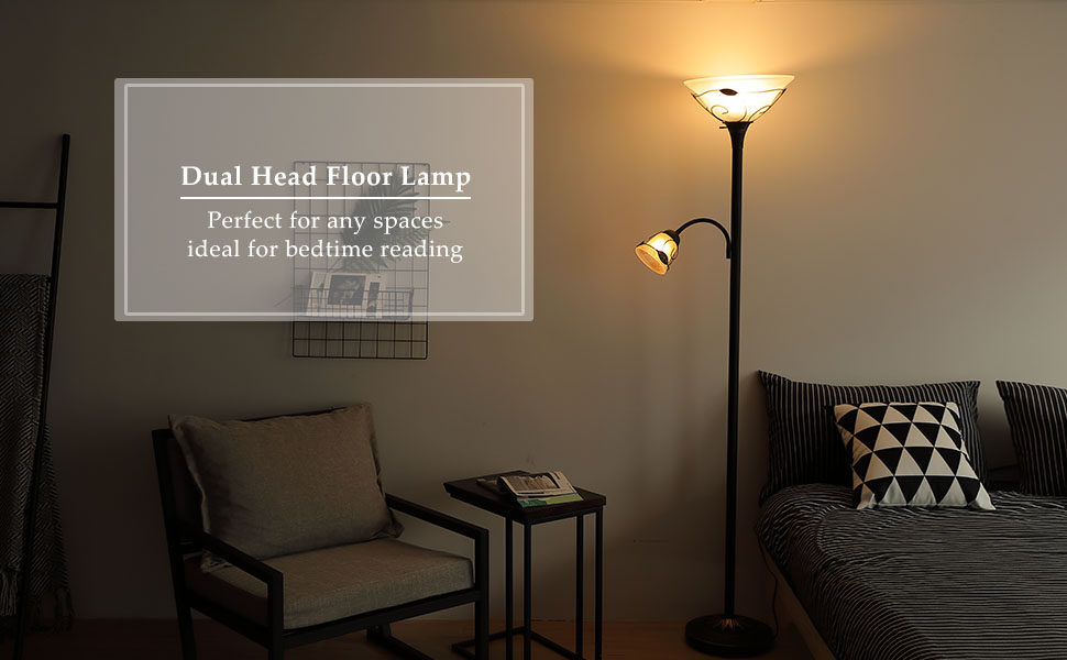 Co z 3 way switch combo floor lamp torchiere with side reading light co z antique bronze combo floor lamp aloadofball Choice Image
