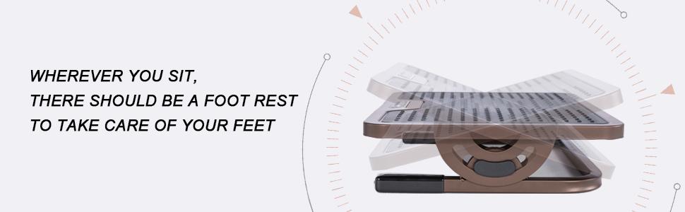 Eureka Ergonomic Adjustable Footrest with Lockable Angles Under Desk ERK-FR-02