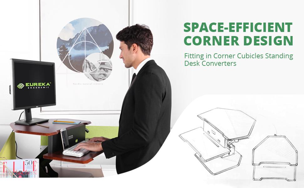 corner standing desk
