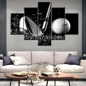 wall pictures for living room professional swing single round play ground golfball golfing hole grey