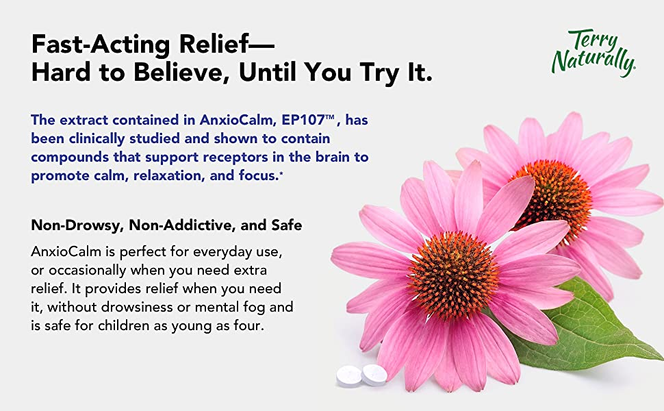 fast-acting relief, non-drowsy, non-addictive, and safe
