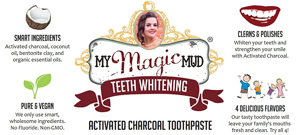 Amazon Com My Magic Mud Activated Charcoal Toothpaste For
