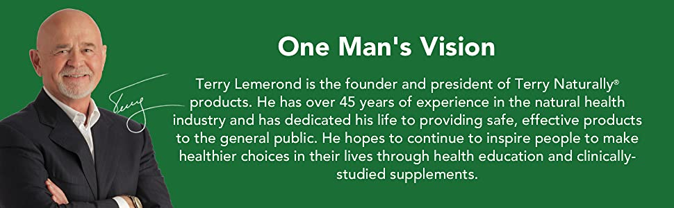 One Man's Vision. Terry Lemerond, founder of Terry Naturally.