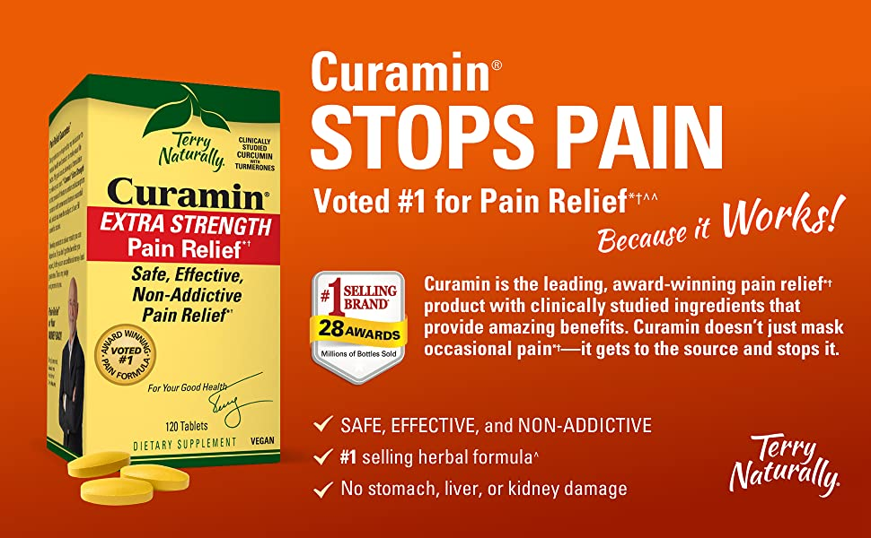 Curamin stops pain. Voted #1 for pain relief because it works!