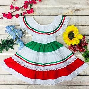 ruffle Mexican dress girl dress kid clothes guess kids gap kids cute beautiful traditional toddler