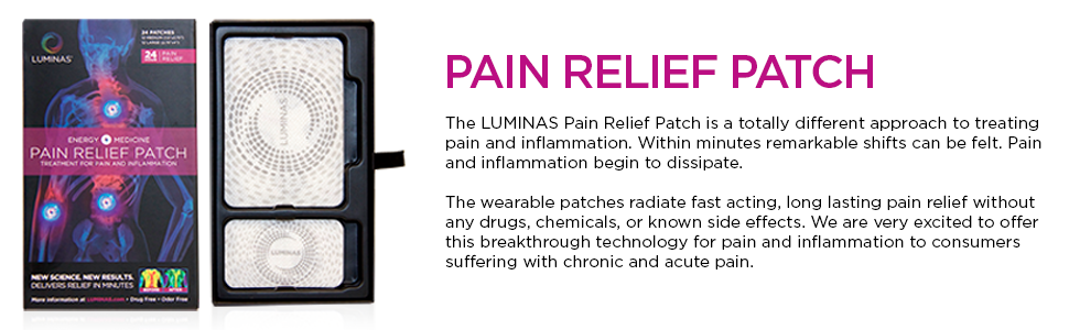 LUMINAS Pain Relief Patches (24 Pack) Up to 24 Hours of Pain Relief for:  Joints, Back, Hip, Neck,