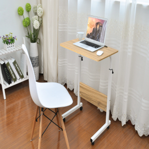 DOEWORKS Side Table Adjustable Laptop Stand Portable Cart Tray Side Table Black Studying Desk