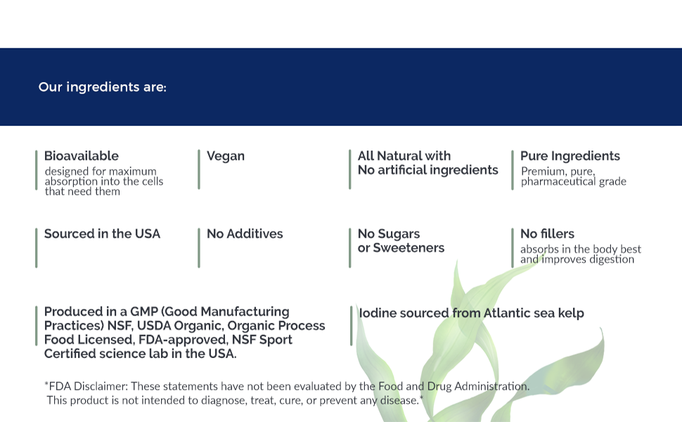 our ingredients and fda