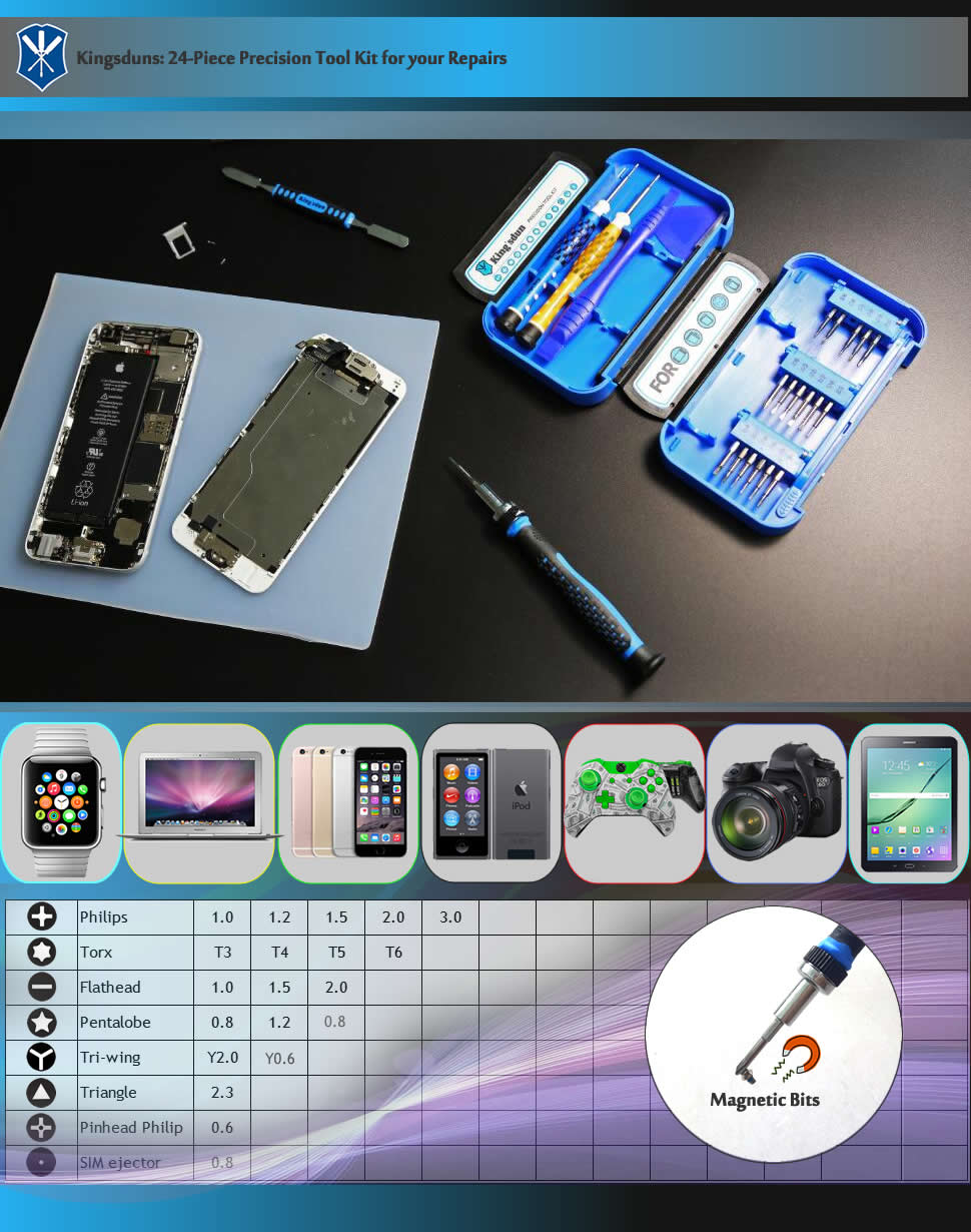 Convenient 4s /& 4 7 in 1 Screwdriver Repair Open Tool Kit for Phone Family Must-Have Repair Tool Compatible with iPhone 6 5s /& 5c /& 5 SE