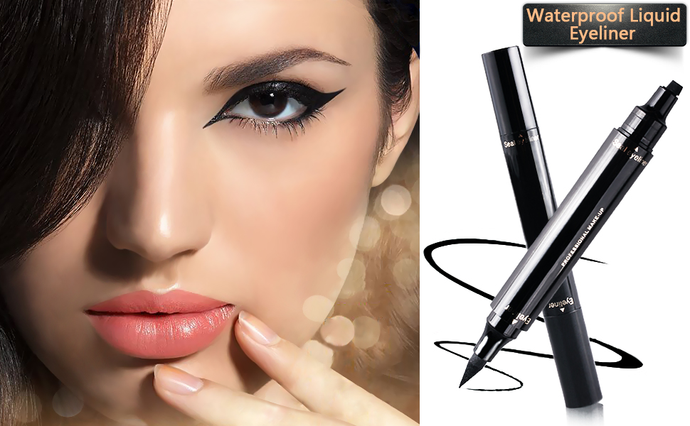 Waterproof Smudge Proof Long Lasting 2in1 Winged Eyeliner Stamp