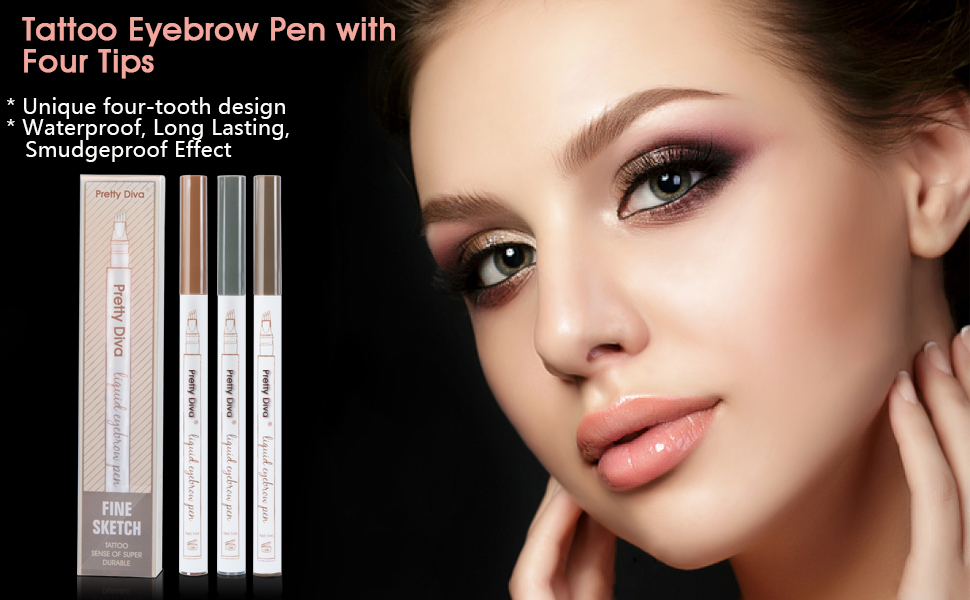 Amazon Tattoo Eyebrow Pen By Prettydiva Waterproof Long