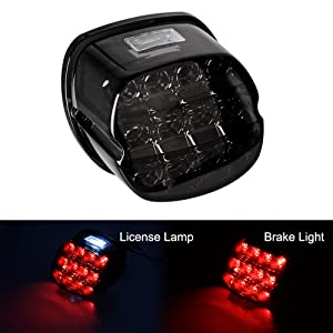 harley black brake light license lamp lights tail light taillamp