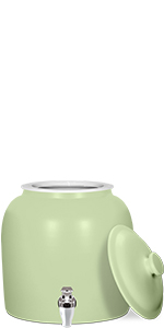 ... Matte Solid Green Ceramic Water Crock ...