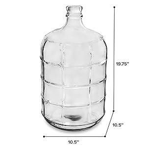 Amazon Com Geo Glass Water Bottle 5 Gallon Sports