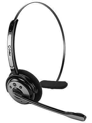black headset with boom mic microphone
