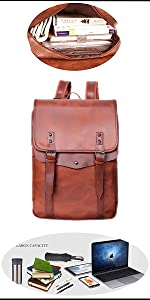 Classic British style PU backpack