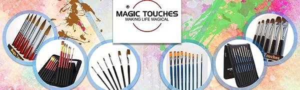 Magic Touches Range of Artist Paint Brush Sets