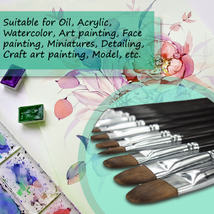 Art Paint brushes for Acrylic, Oil and Watercolor
