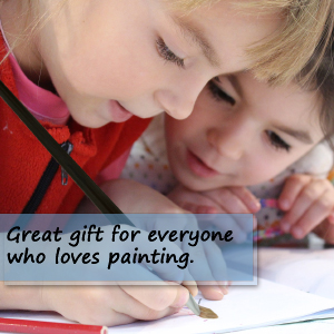 Red Sable paint brushes for kids - make a wonderful gift for artists and painting enthusiasts