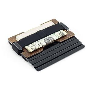 Card holder wallet minimalist money clip