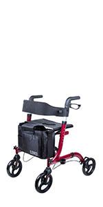 Amazon.com: Silla de transporte plegable innovador médico 4 ...