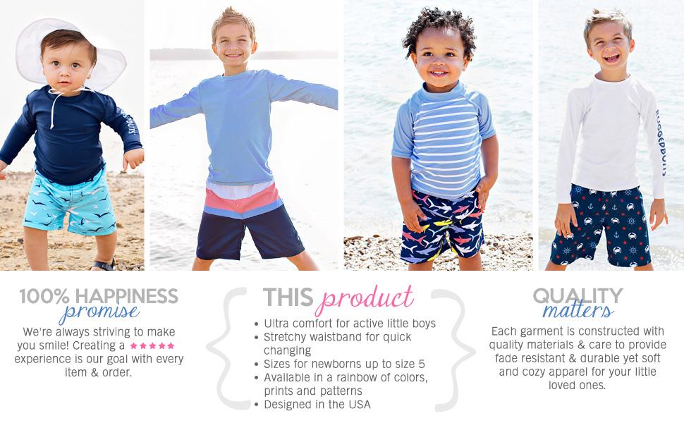 54dc7262eec59 Amazon.com: RuggedButts Baby/Toddler Boys Swim Trunks w/Adjustable ...