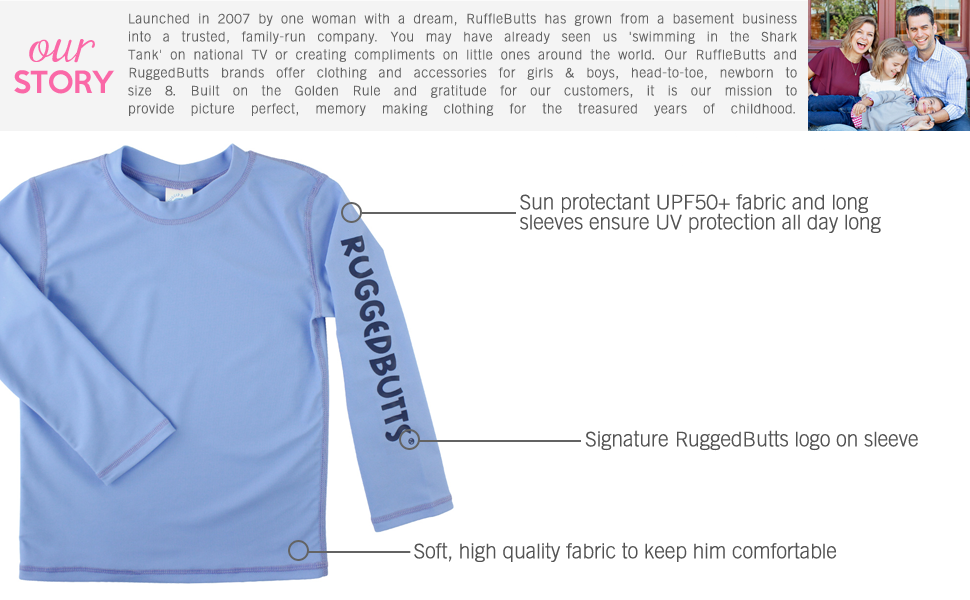 ruggedbutts long sleeve rash guard upf 50 protection